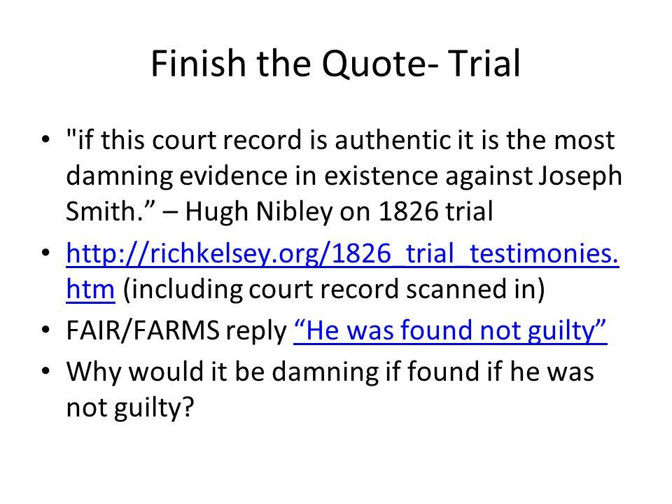Finish the Quote- Trial