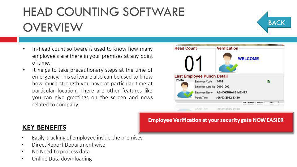 HEAD COUNTING SOFTWARE OVERVIEW