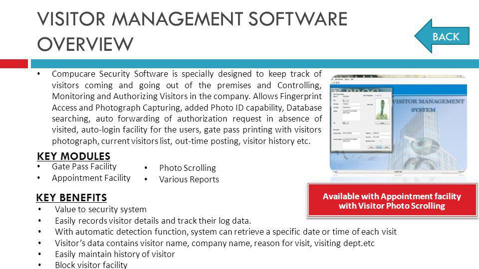 VISITOR MANAGEMENT SOFTWARE OVERVIEW