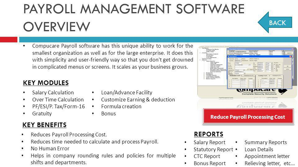 PAYROLL MANAGEMENT SOFTWARE OVERVIEW