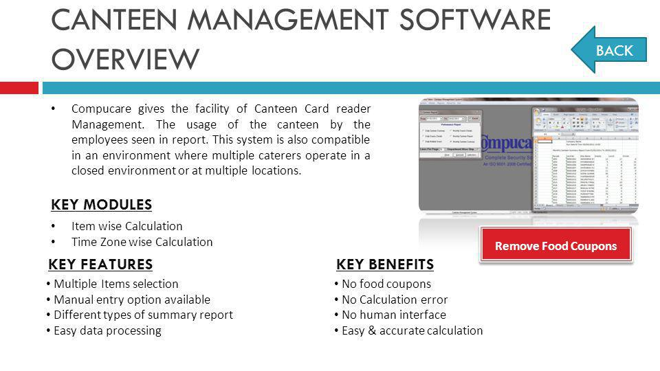 CANTEEN MANAGEMENT SOFTWARE OVERVIEW