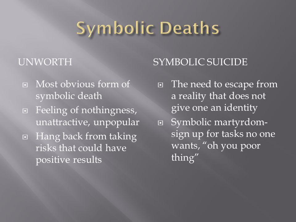 Symbolic Deaths Unworth Symbolic suicide