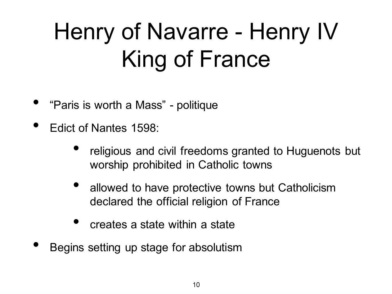 Henry of Navarre - Henry IV King of France