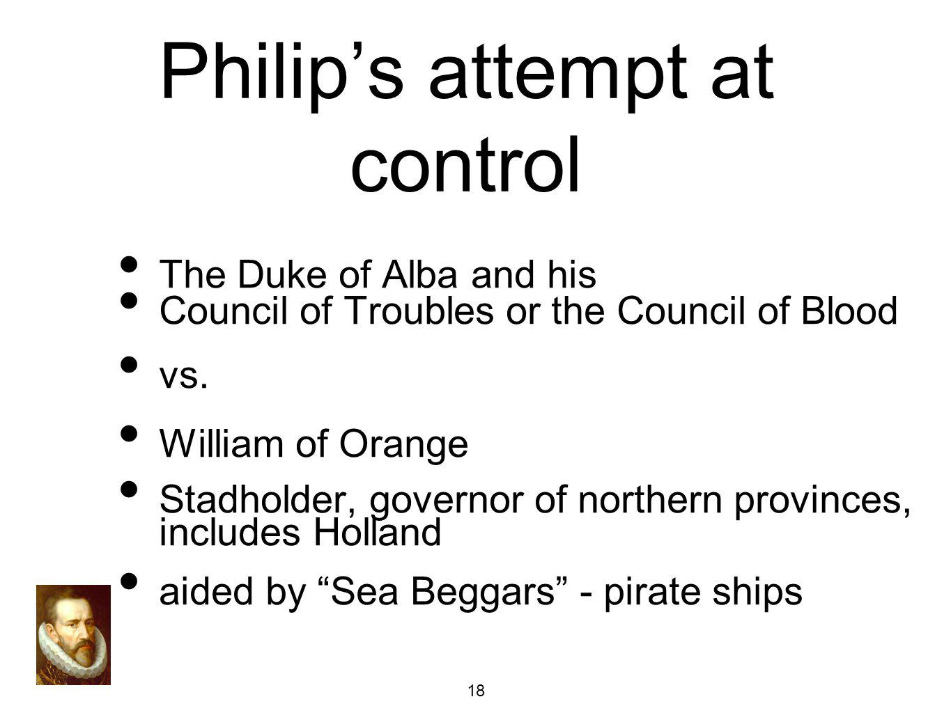 Philip's attempt at control