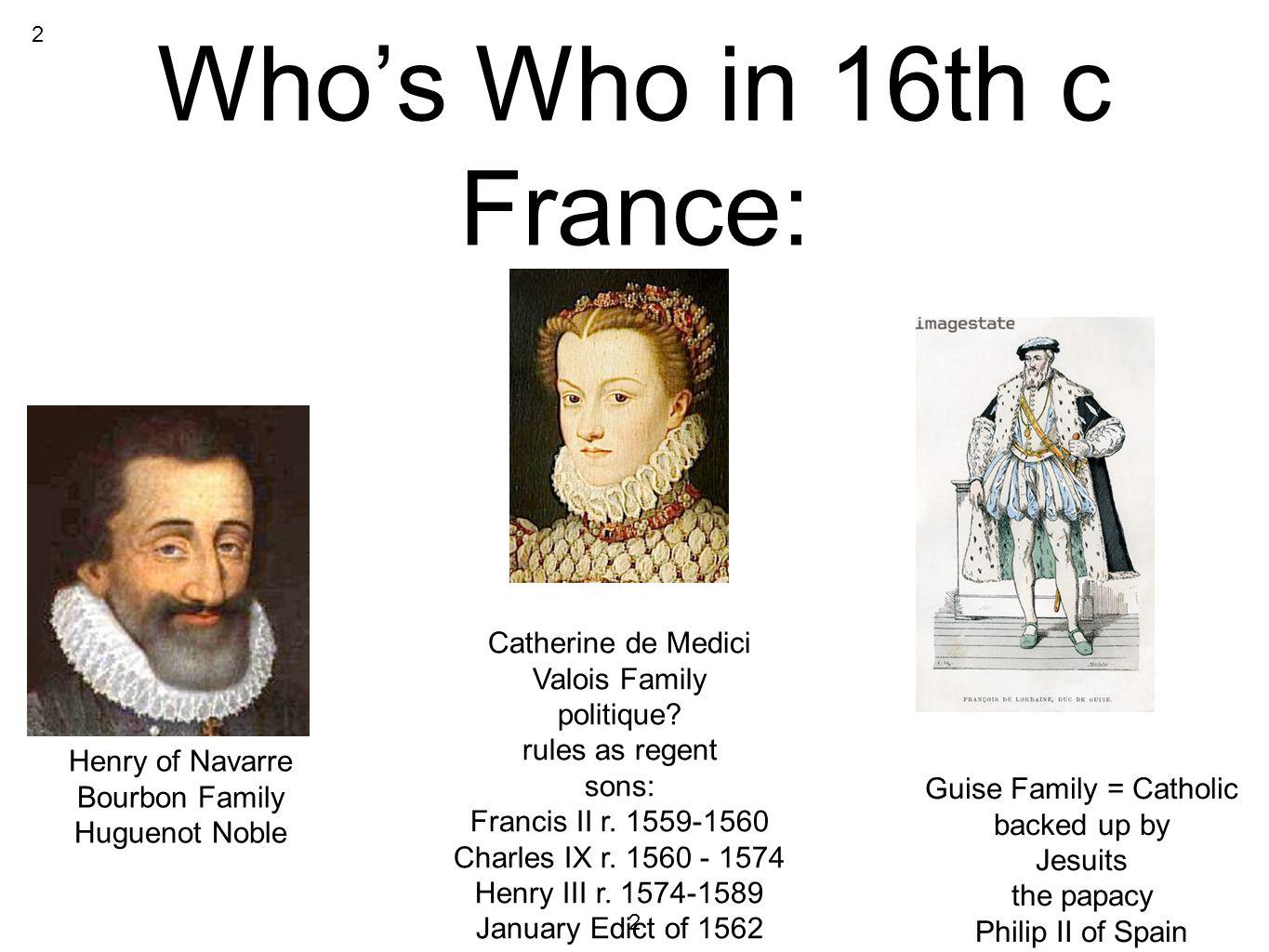 Who's Who in 16th c France: