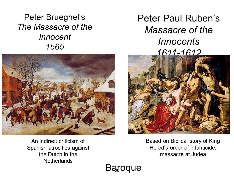Peter Brueghel's The Massacre of the Innocent 1565