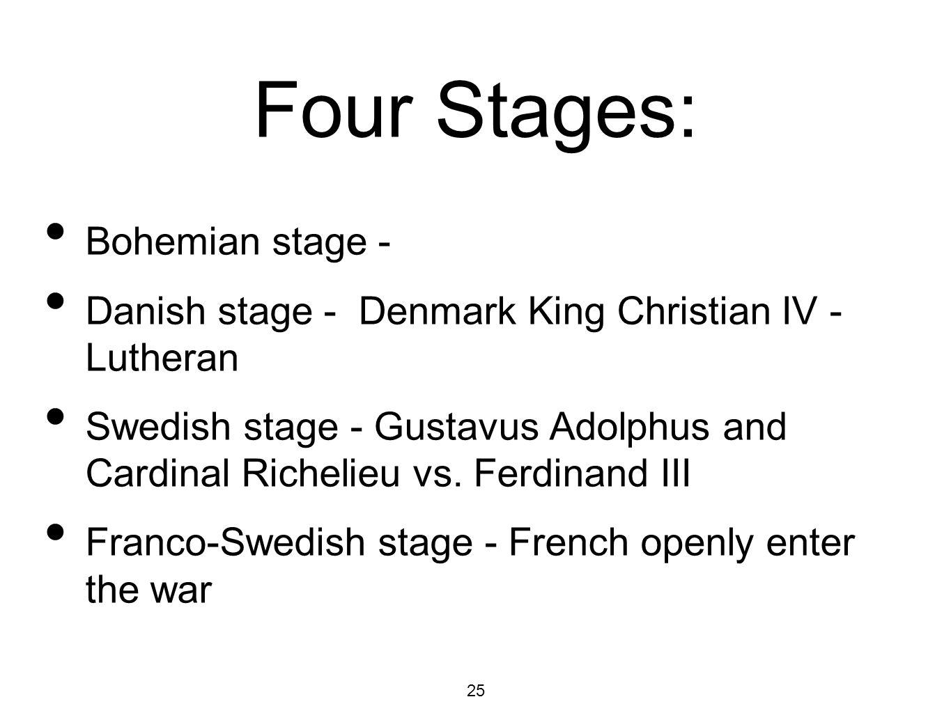 Four Stages: Bohemian stage -