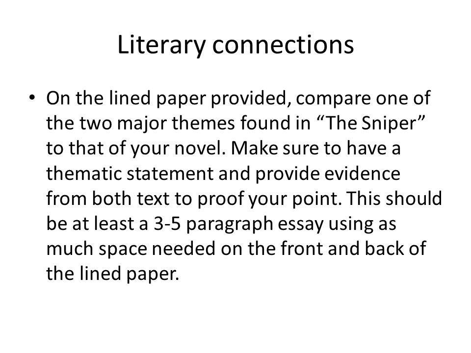 Literary connections