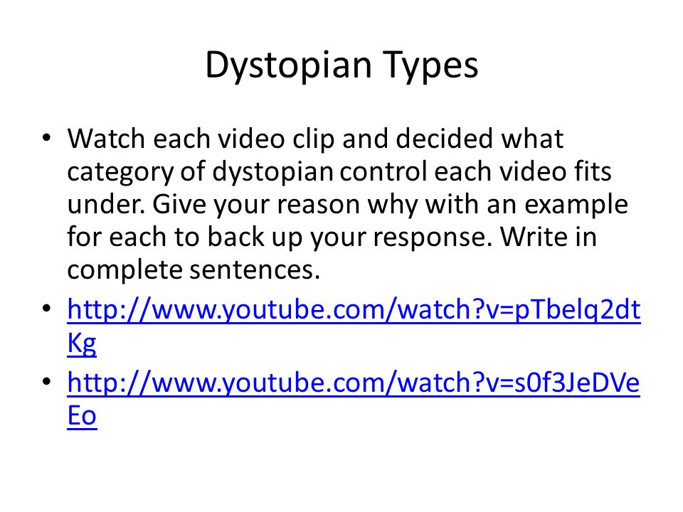 Dystopian Types