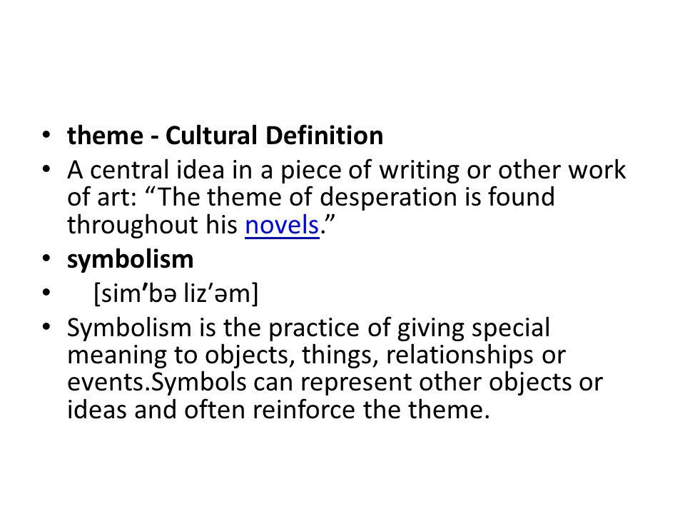 theme - Cultural Definition