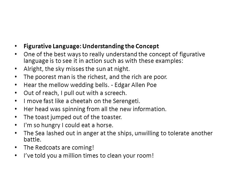 Figurative Language: Understanding the Concept