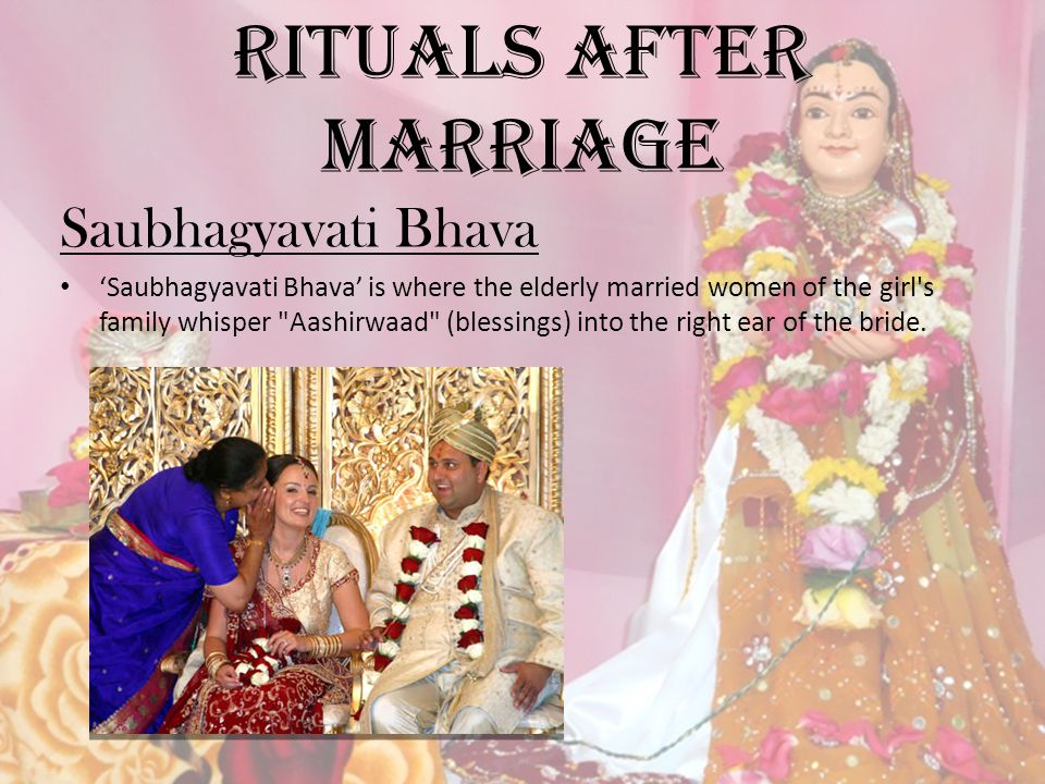Rituals after Marriage