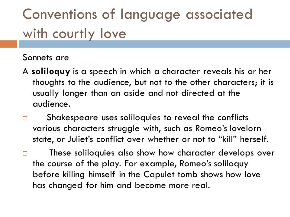 Conventions of language associated with courtly love