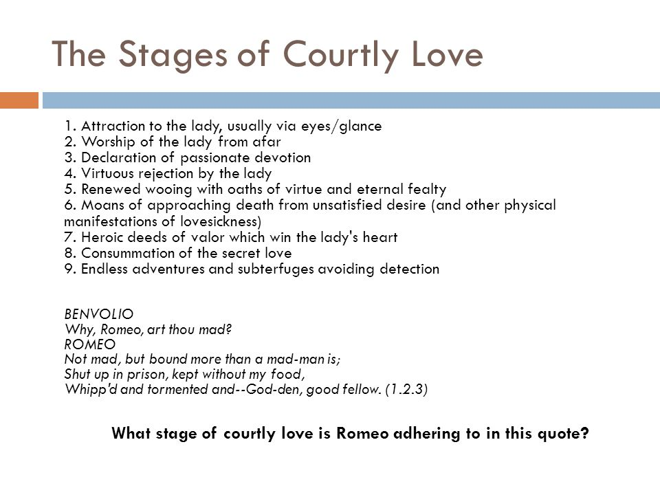 The Stages Of Courtly Love