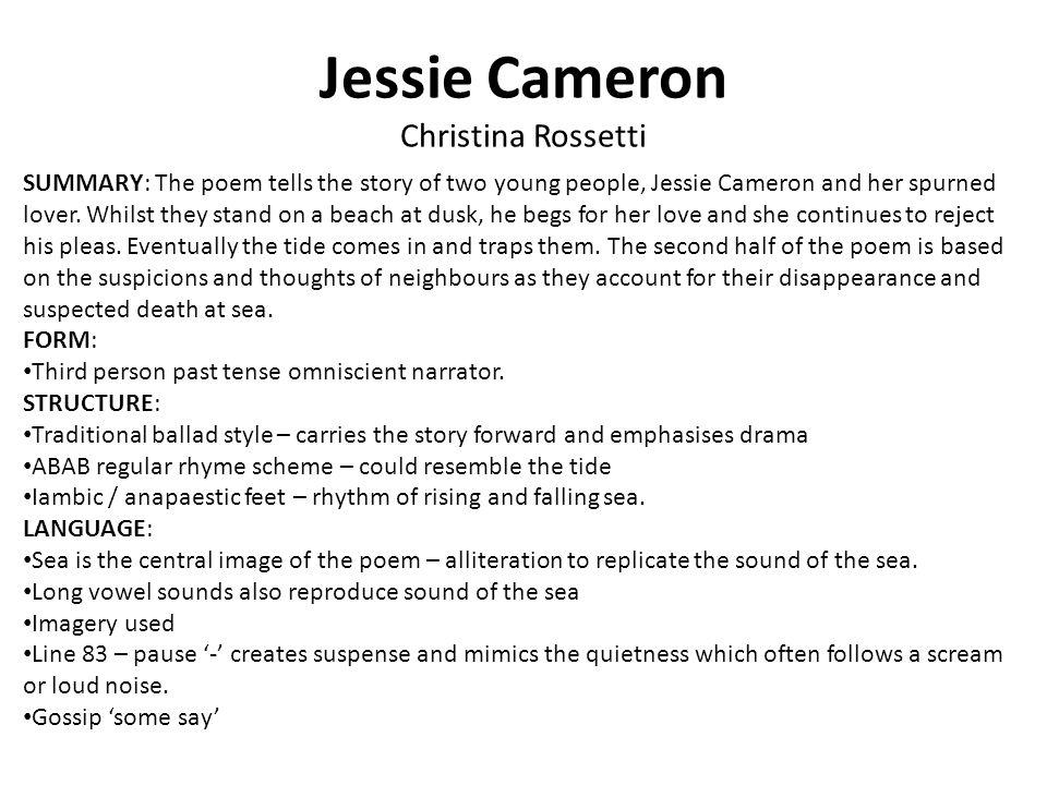 Jessie Cameron Christina Rossetti