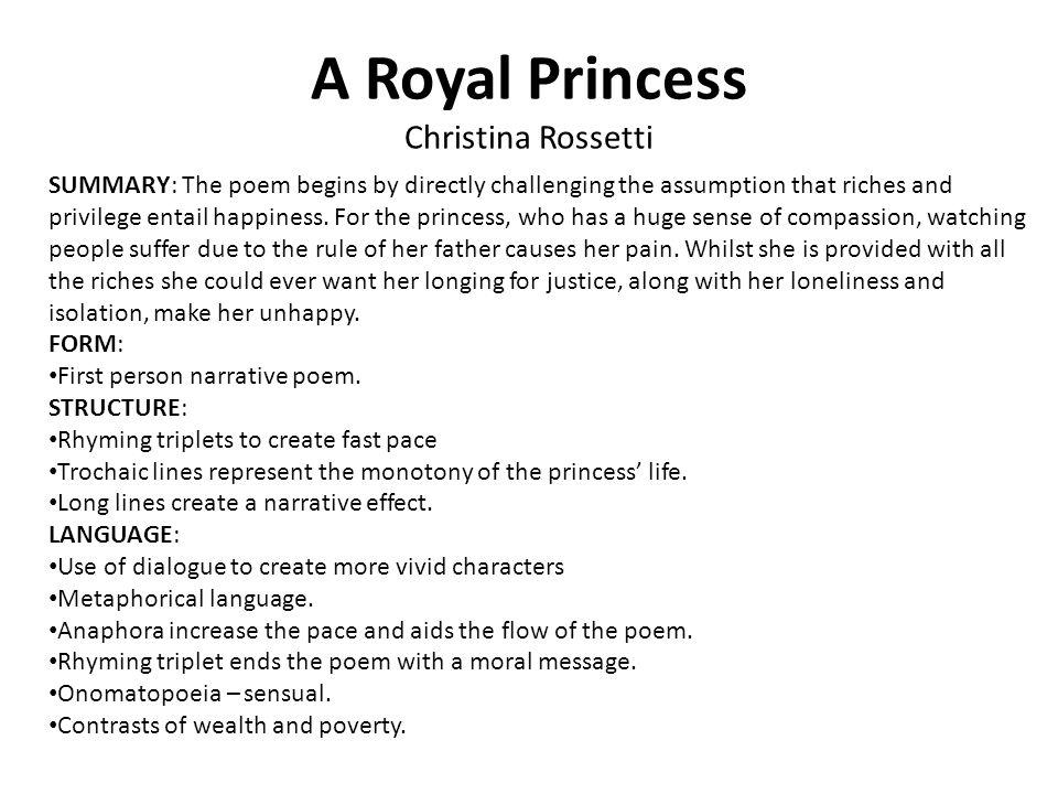 A Royal Princess Christina Rossetti
