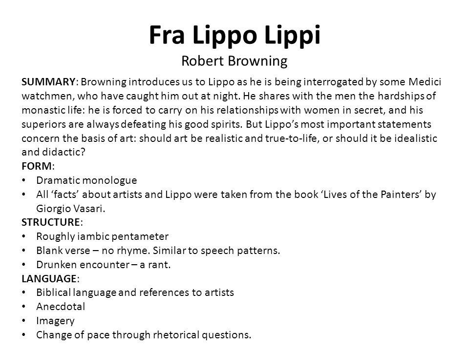 Fra Lippo Lippi Robert Browning