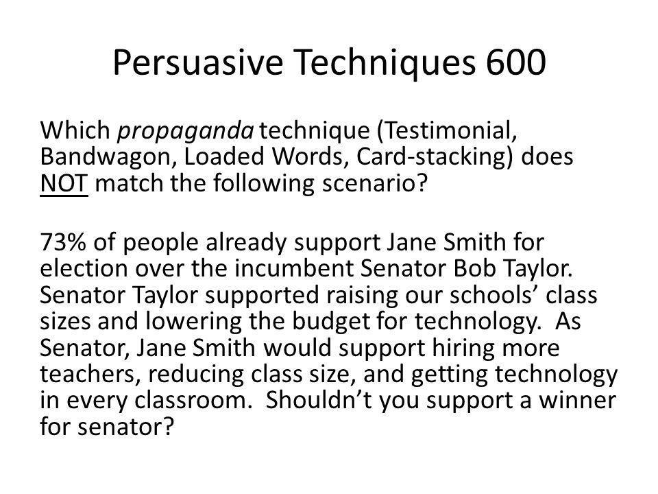 Persuasive Techniques 600