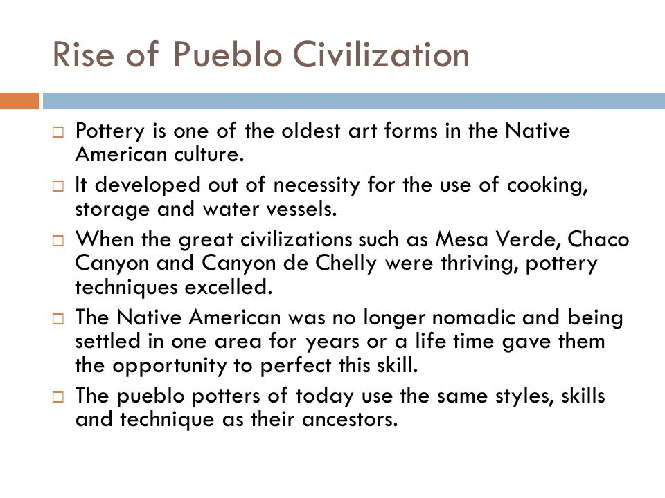 Rise of Pueblo Civilization