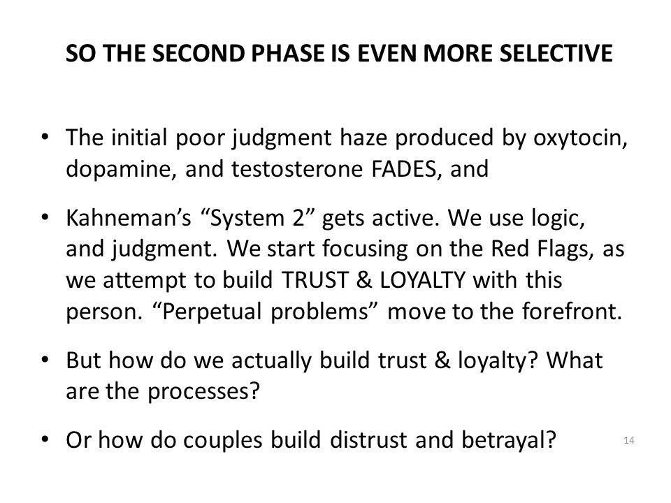 SO THE SECOND PHASE IS EVEN MORE SELECTIVE