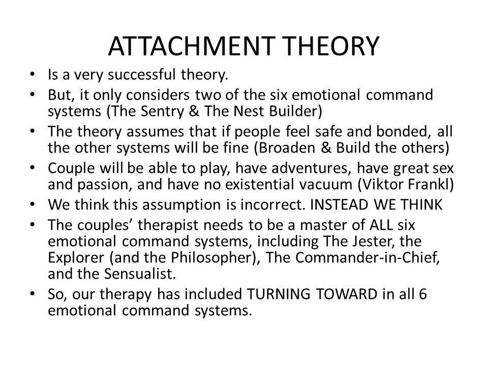 ATTACHMENT THEORY Is a very successful theory.
