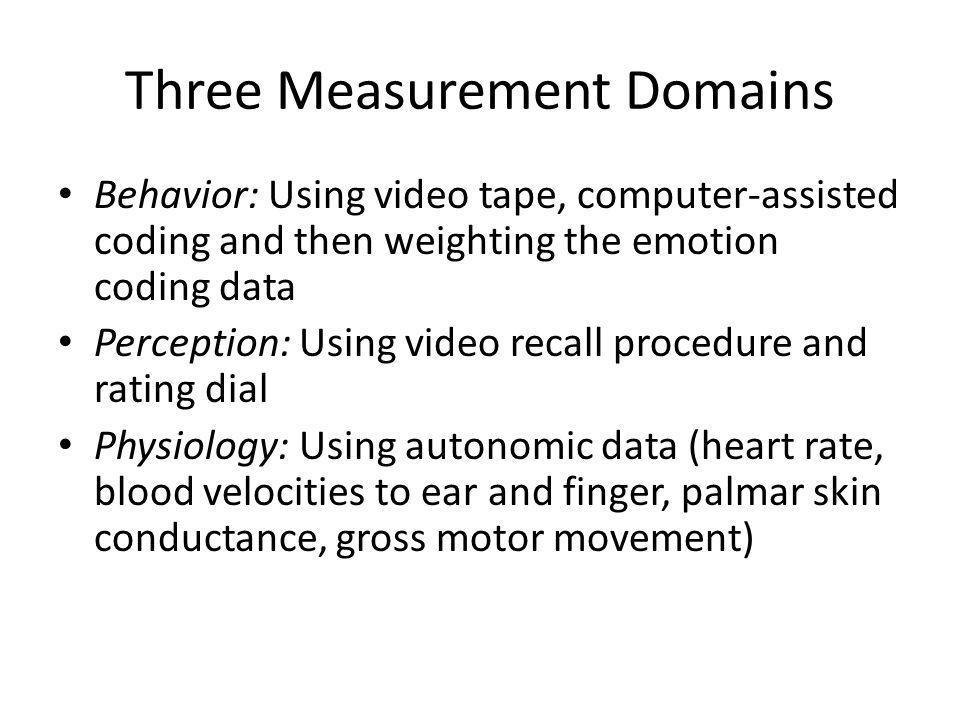Three Measurement Domains
