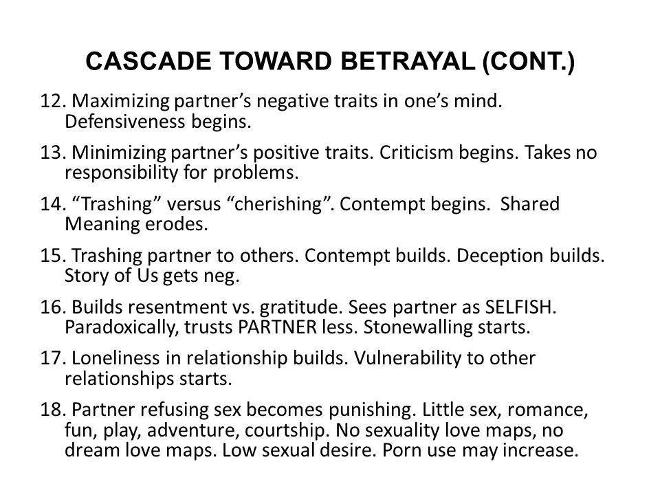 CASCADE TOWARD BETRAYAL (CONT.)
