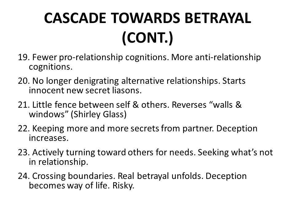 CASCADE TOWARDS BETRAYAL (CONT.)