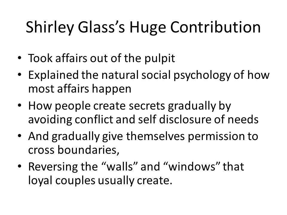 Shirley Glass's Huge Contribution