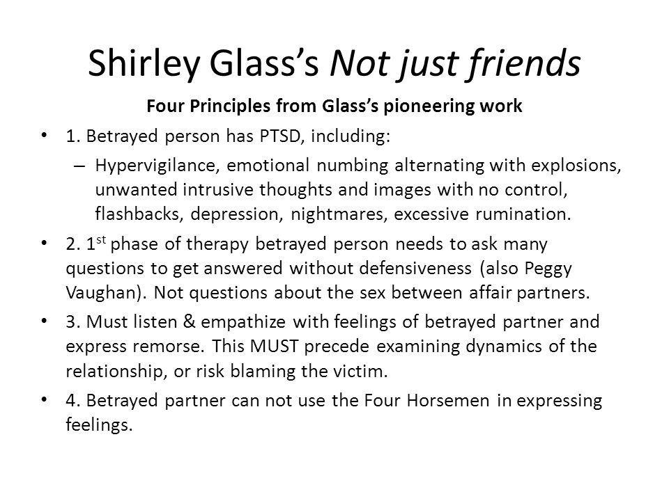 Shirley Glass's Not just friends