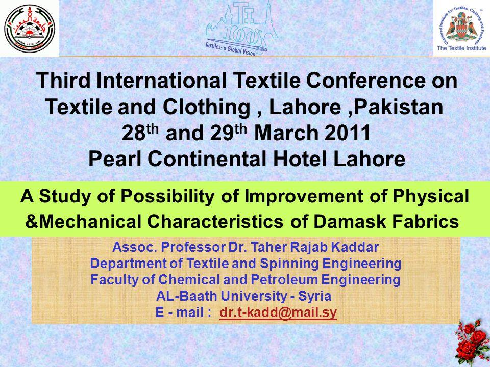 Pearl Continental Hotel Lahore Assoc. Professor Dr. Taher Rajab Kaddar