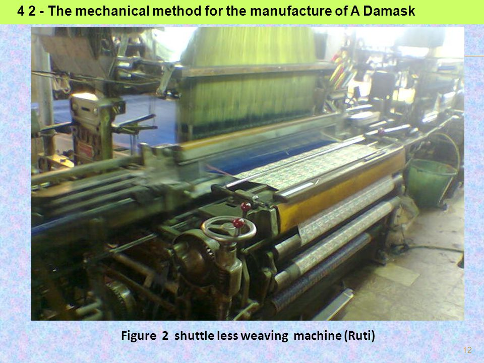 4 2 - The mechanical method for the manufacture of A Damask