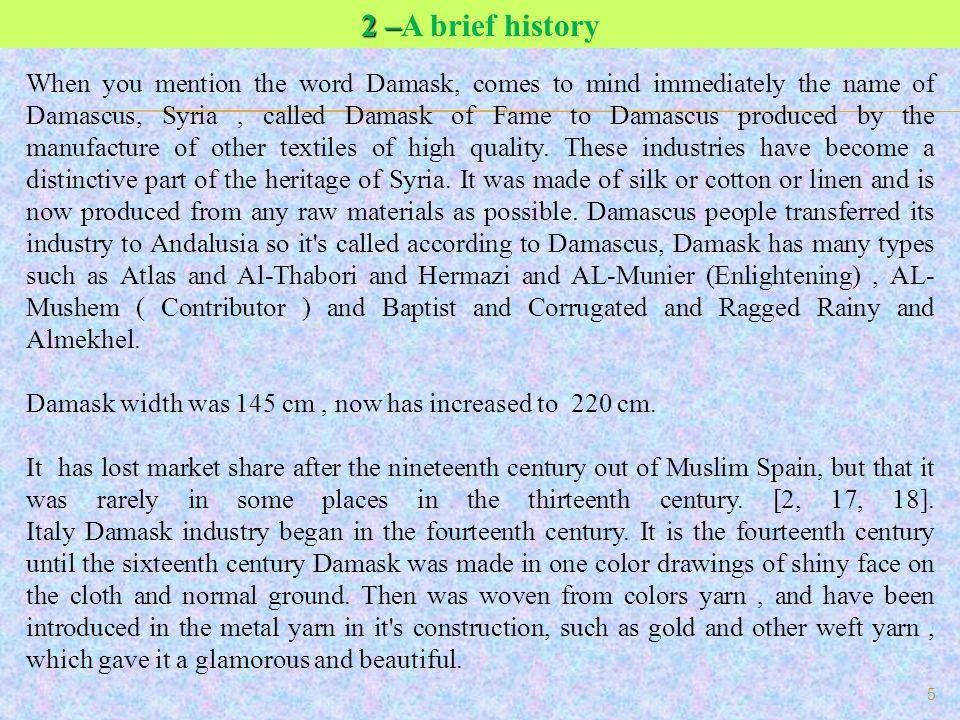 2 –A brief history
