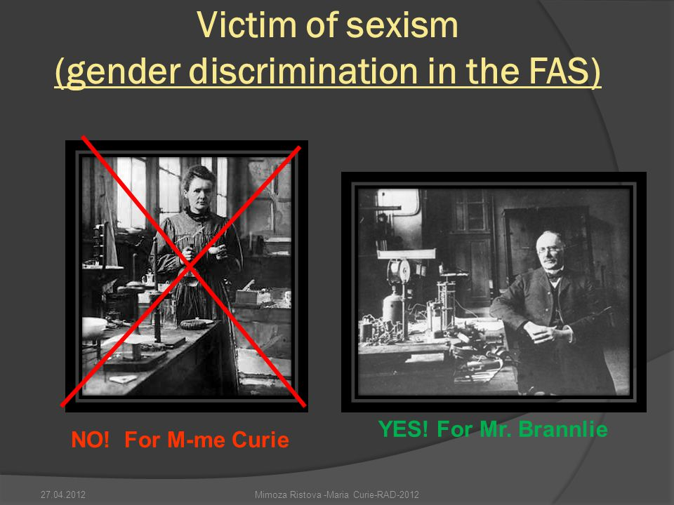 Victim of sexism (gender discrimination in the FAS)