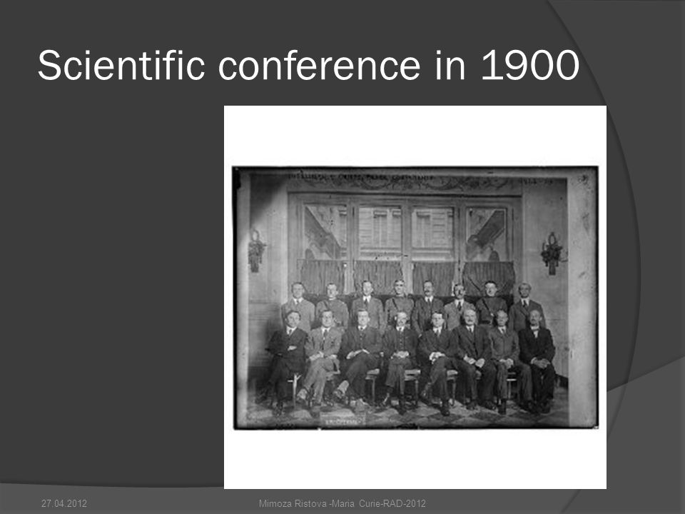 Scientific conference in 1900