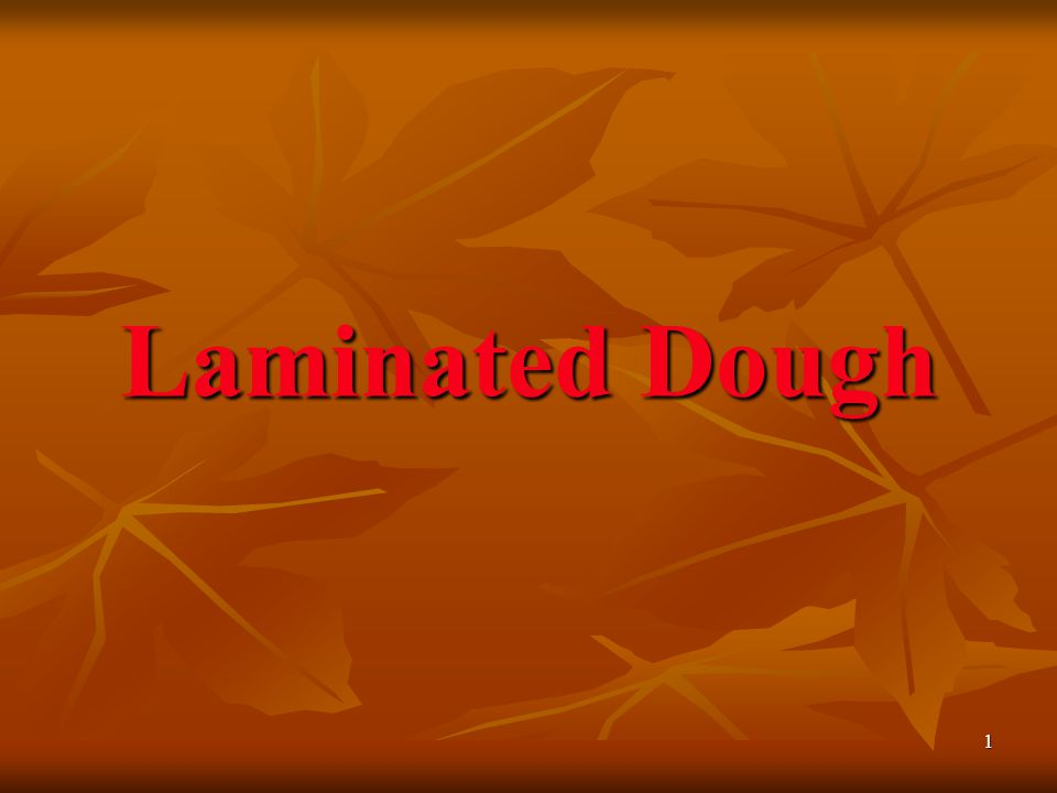 Laminated Dough