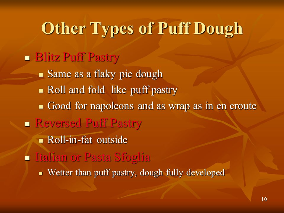 Other Types of Puff Dough