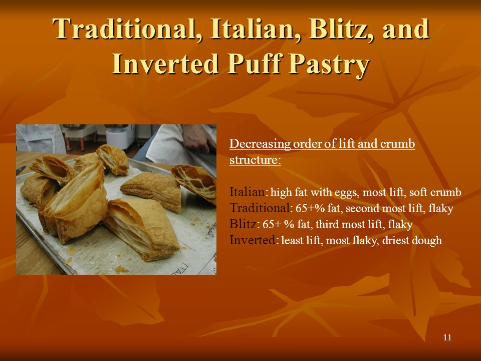 Traditional, Italian, Blitz, and Inverted Puff Pastry