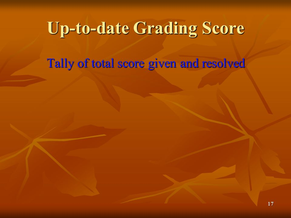 Up-to-date Grading Score