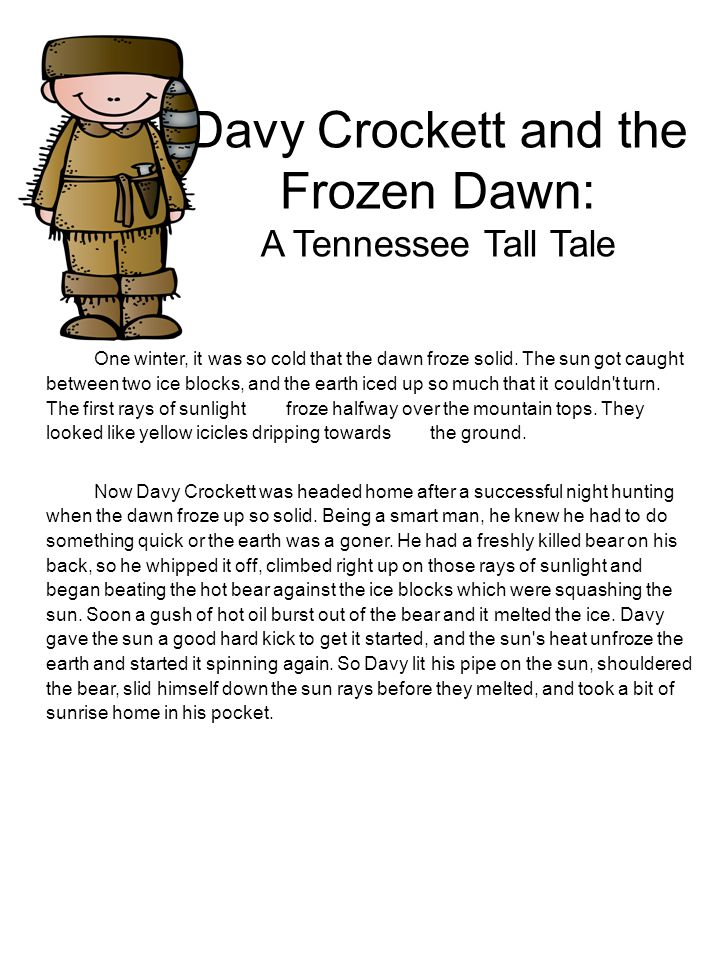 Davy Crockett and the Frozen Dawn: A Tennessee Tall Tale