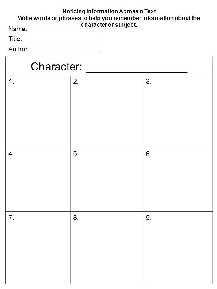 Character: ________________