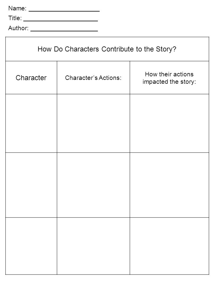 How Do Characters Contribute to the Story
