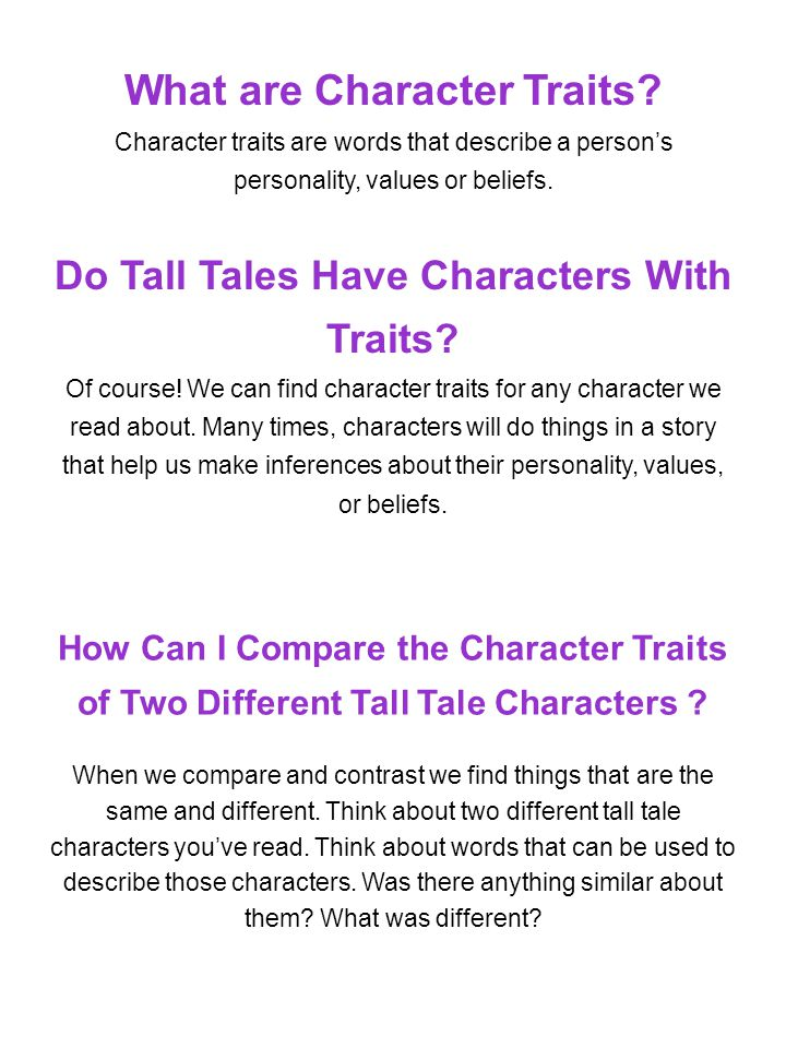 What are Character Traits