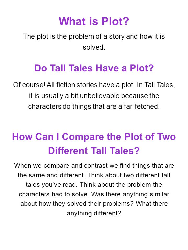 What is Plot Do Tall Tales Have a Plot