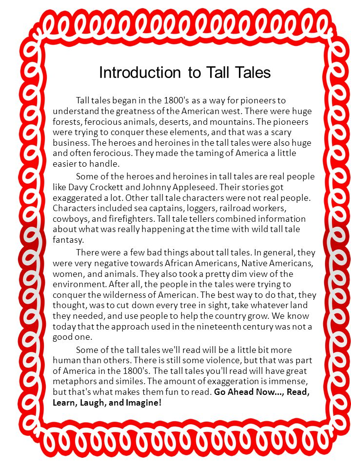 Introduction to Tall Tales