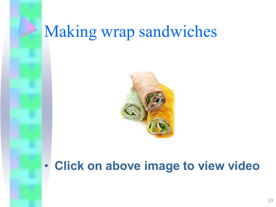 Making wrap sandwiches