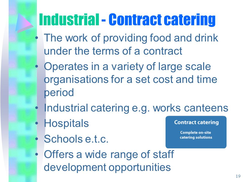 Industrial - Contract catering