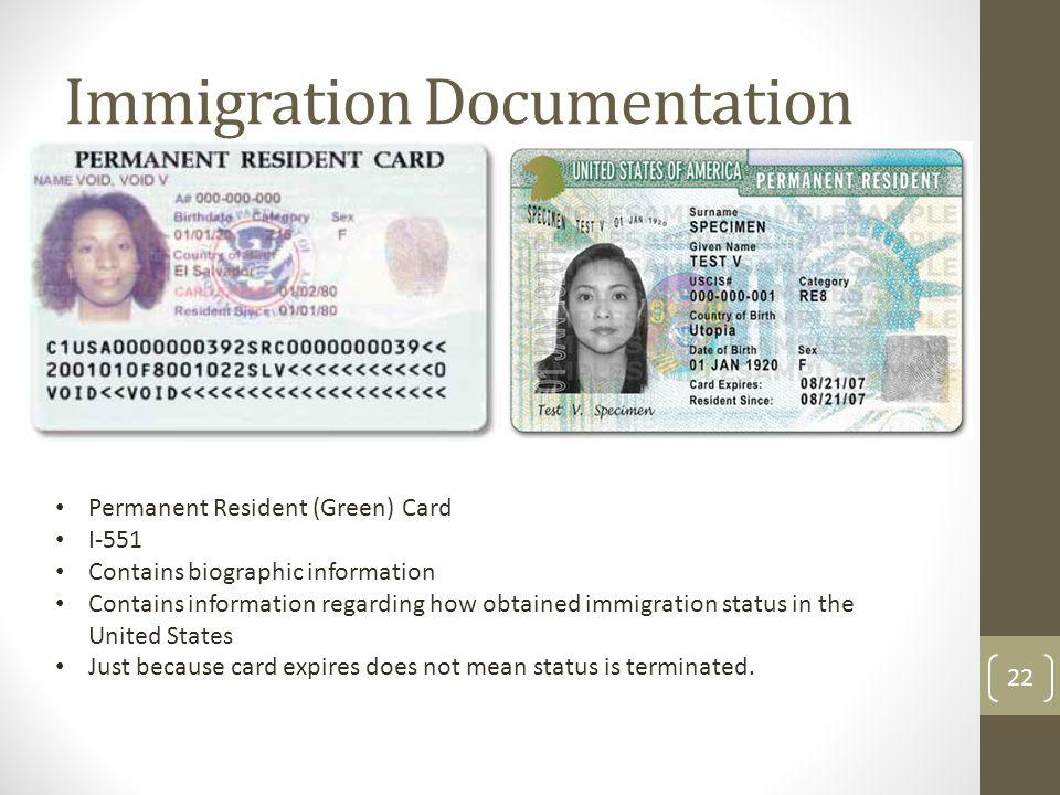 Immigration Documentation