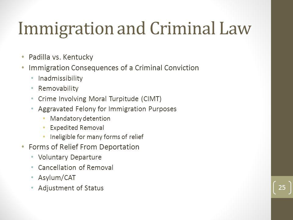 Immigration and Criminal Law