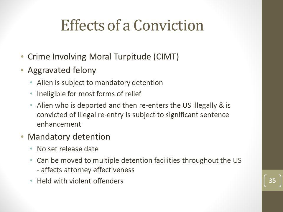 Effects of a Conviction